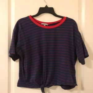 Charlotte Russe Red and Blue Top